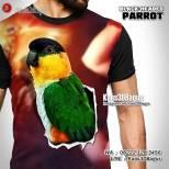 Kaos BURUNG LANGKA, Indonesian Parrot Lovers, Nuri Kepala Hitam, Kaos3D