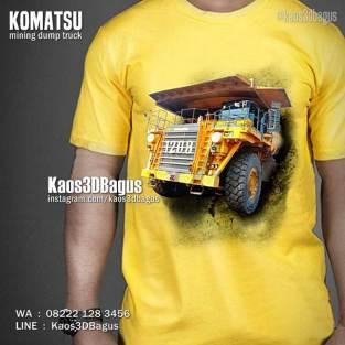 Komatsu Mining HD Truck, Kaos TEMA TAMBANG, Kaos HAULING OB, Kaos Gambar ALAT BERAT, Kaos KOMUNITAS TAMBANG