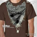 Kaos Kafiyeh, Kaos Pria Muslim, Kaos 3 Dimensi