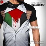 Kaos Pejuang Palestina, Intifada, Kaos Gambar Bendera Palestina