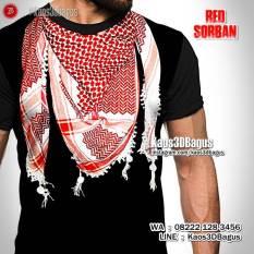 Kaos Gambar SORBAN, Kaos 3 Dimensi, Kaos3D Muslim, Kaos RELIGI ISLAM, Kaos Syal Palestina, Intifada