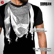 Kaos Gambar Sorban, Kaos3D, Scarf Muslim Pria, Kaos Religi