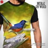 Kaos KICAU MANIA INDONESIA, Murai Gacor, Kaos3D, Kaos Gambar Burung