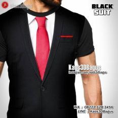 Black Suit 3D Tshirt, Kaos 3D BLACK SUIT, Kaos Jas Hitam