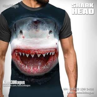 Kaos Hiu Macan, Kaos ANIMAL, Kaos Shark Lover, Kaos3D