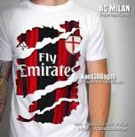 Kaos3D, Kaos AC Milan Jersey Robek, Kaos Futsal