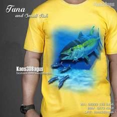 Kaos Tema Mancing, Mancing Mania, Kaos Gambar Ikan Tuna, Kaos3D