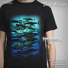 Kaos Gambar Ikan Tuna, Mancing Mania, Kaos 3 Dimensi