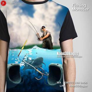 Sea Fishing, Kaos Tema Mancing, Kaos Tema Fishing, Kaos3D