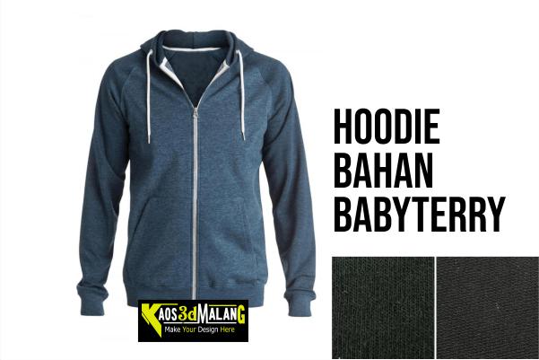 Hoodie Bahan Babyterry Kaos 3d Malang
