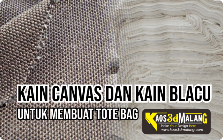 Kain Blacu Kain Canvas Bahan Membuat Tote Bag