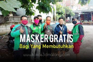 Pembagian Masker Gratis Untuk Masyarakat Malang Yang Membutuhkan