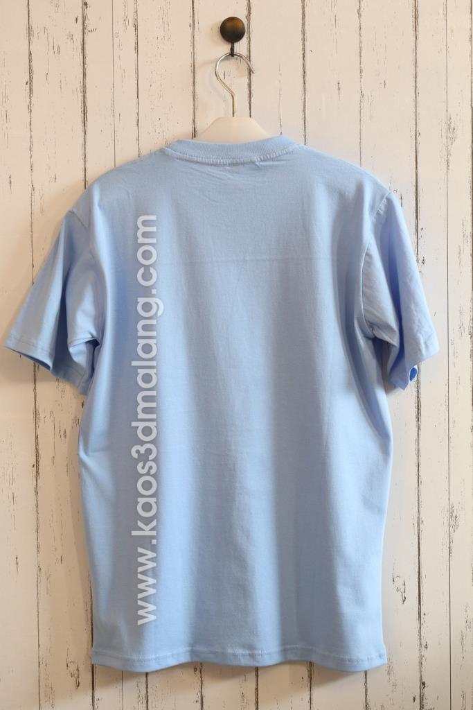 Kaos Polos Warna Biru Caroline Blue