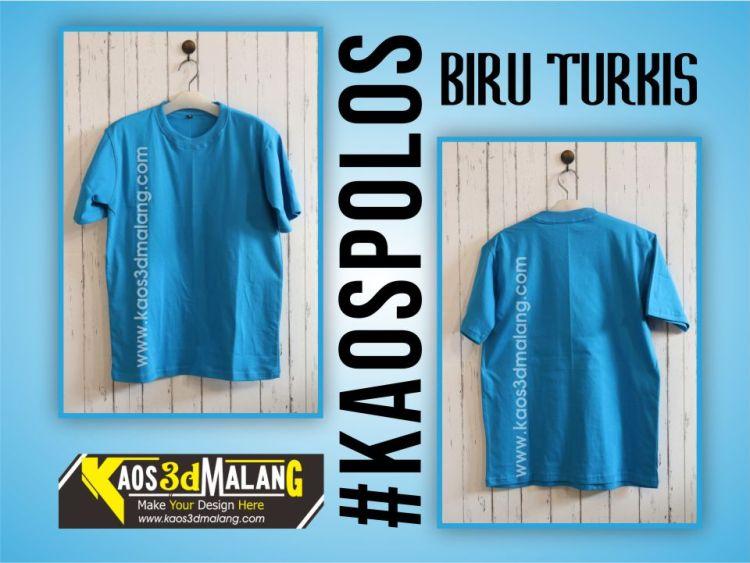 Kaos Polos Warna Biru Turkis