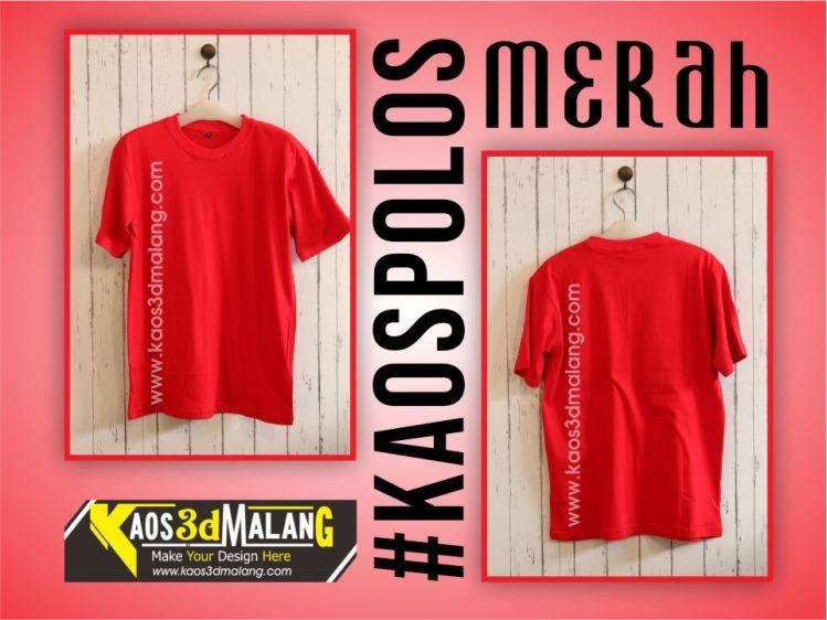 Kaos Polos Warna Merah