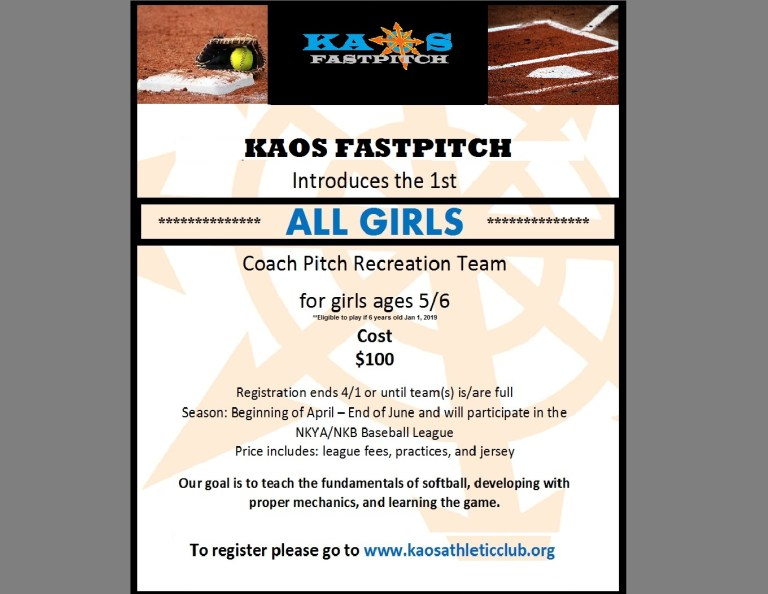 Rec Flyer Coach Pitch