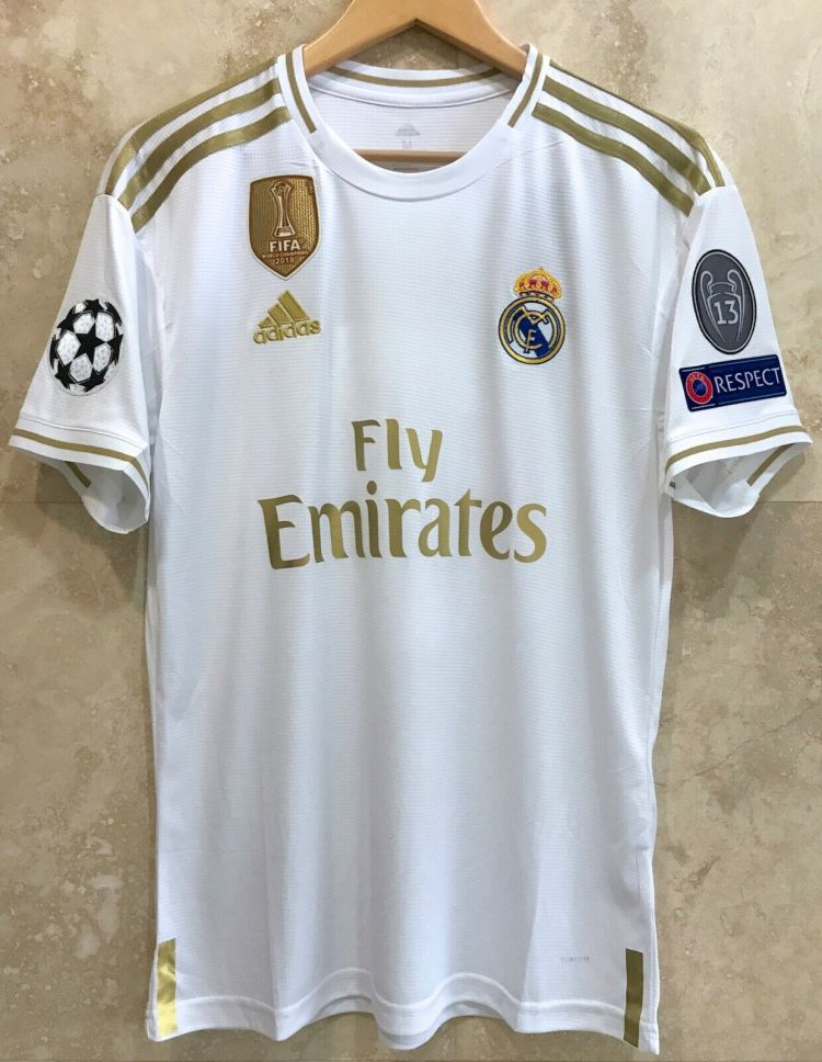 Jersey Real Madrid Home 2019-2020 UEFA Champions League ...