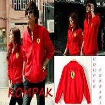 Jaket Ferarri merah - 160.000