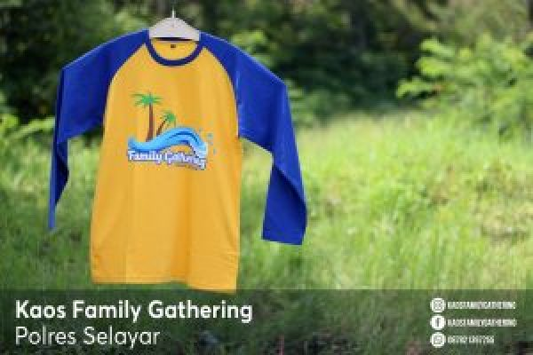Kaos Family Gathering Polres Selayar 2