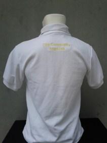 Polo Shirt Tampak Belakang