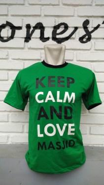 Kaos Keep Calm and Love Masjid