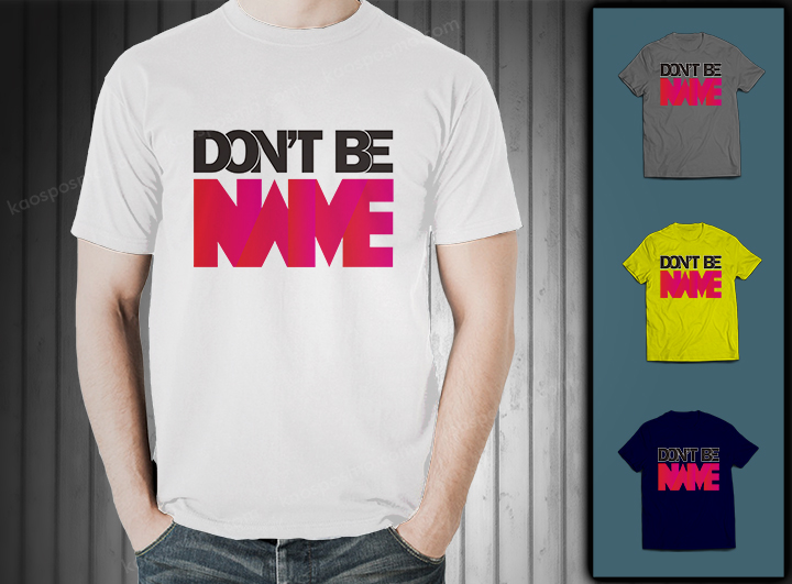 "cool typography t-shirt ""dont be naive"""