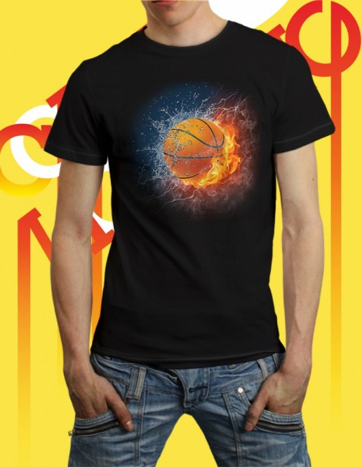 Kaos Bola 3D Keren: Basketball Between Water and Fire