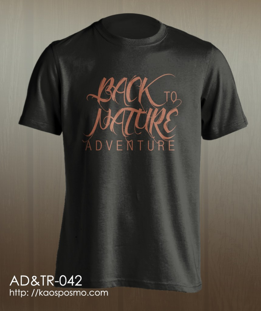 kaos adventure dan traveling: back to nature adventure
