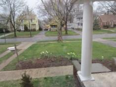 Front yard is mowed