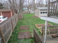 Mowed from the garage to the back fence. Left the grass from the garage to the house, since it wasn't very long.
