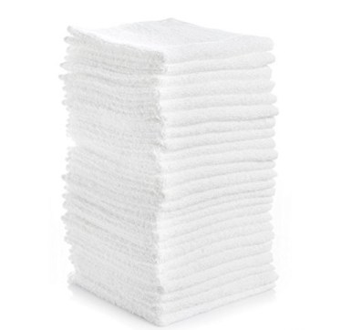 12 x 12 Economy White Washcloths