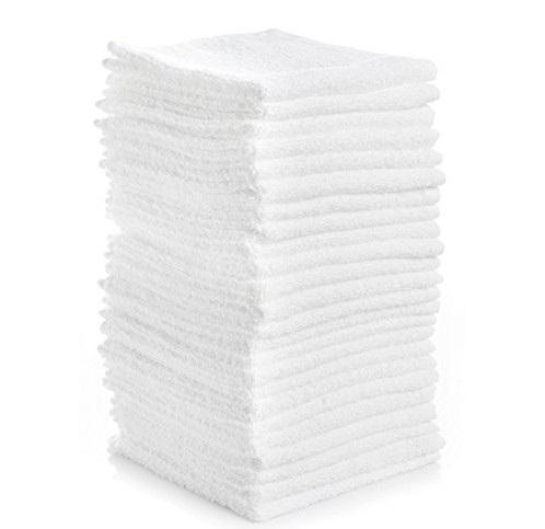 12 x 12 Economy White Washcloths