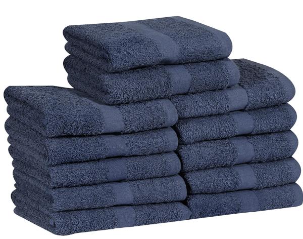 16 x 27 navy blue hand towel
