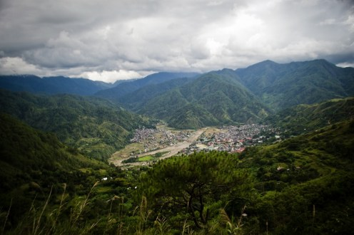 Panoramic view of Bontoc Town Proper