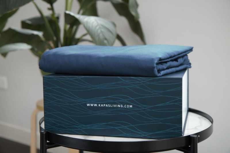 100% cotton Kapas duvet cover in navy blue