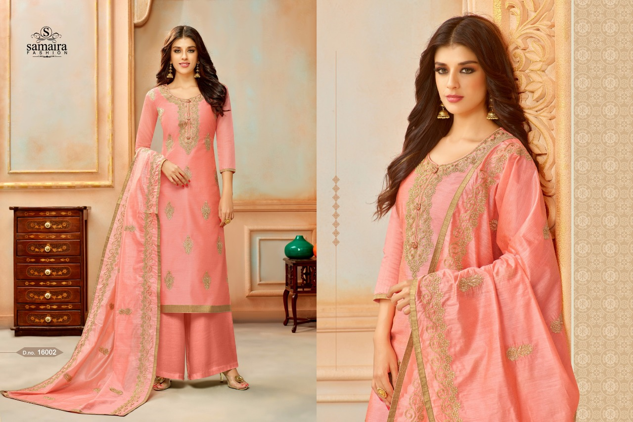 Samaira Fashion Orianna Embroidered Salwar Kameez Catalogue In