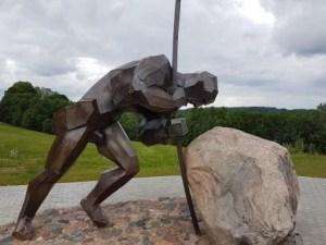 standbeeld Aukstaitijos nationaal park