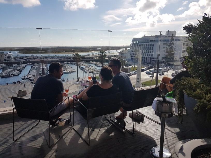 Faro uitzicht panorama cafe