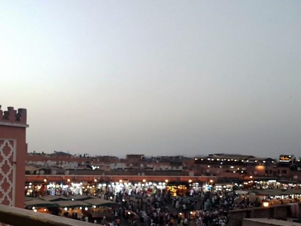 Jemaa el Fna plein avond