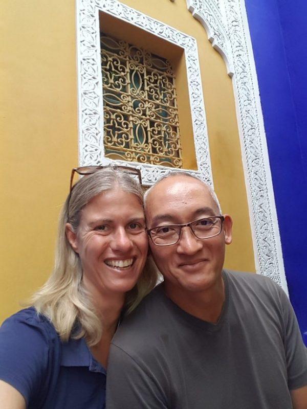 selfie majorelle marrakesh