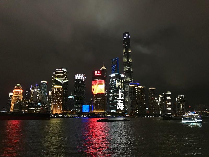 skyline Shanghai nacht
