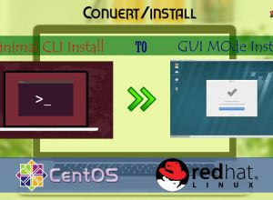 Learn To Install/Convert A Minimal Installation Into GUI on CentOS/RHEL 6/7