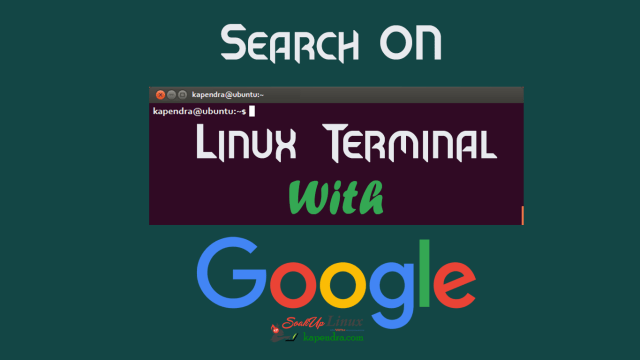 How To Search On Linux Terminal From Google : Googler
