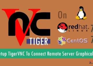 How To Setup TigerVNC To Connect Remote Server Graphically On RHEL/CentOS 7?