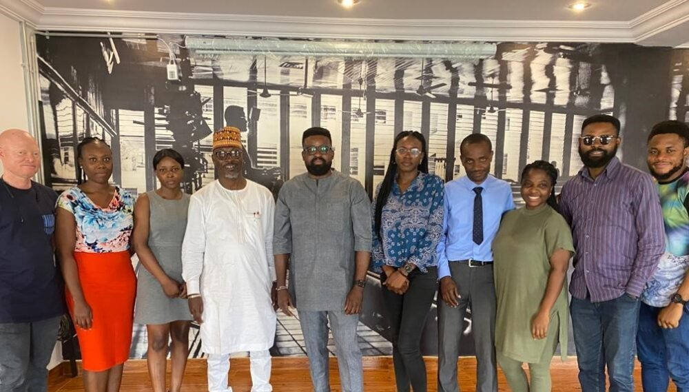 The Courtesy Visit of the Director General of the National Film & Video Censors Board at the Hub.