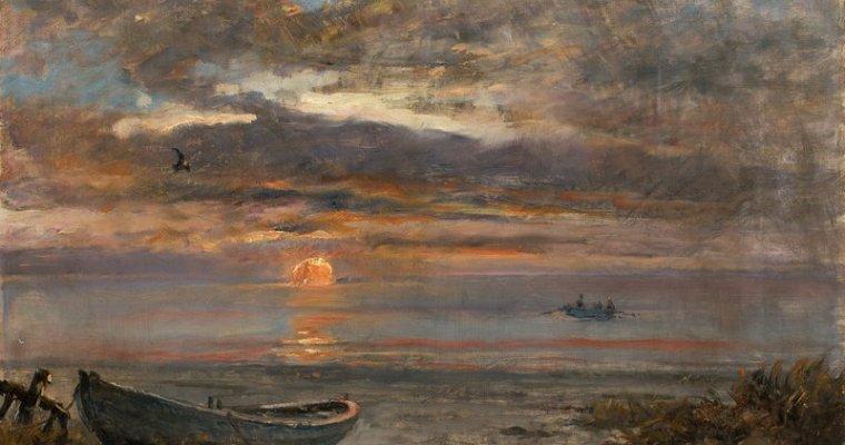 Bild des Monats – Holger Drachmanns Solnedgang en januardag i Skagen (1907)