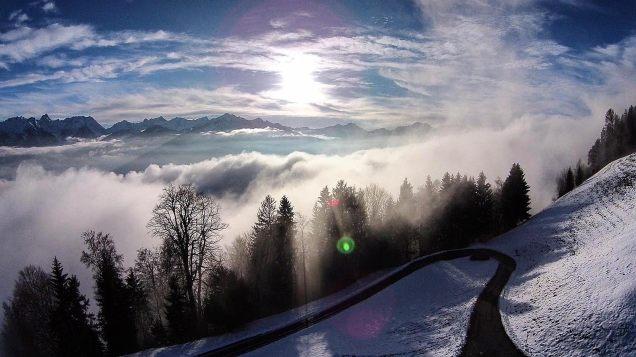 Ausblick im Nebel