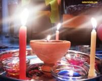 Diya and Lights on Diwali