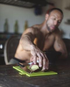 Gabe Kapler reaching for sweet potato