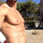 Gabe Kapler with 6 pack abs